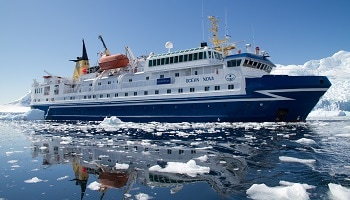 Ocean Nova Fly Cruise Expedition ship Antarctica.