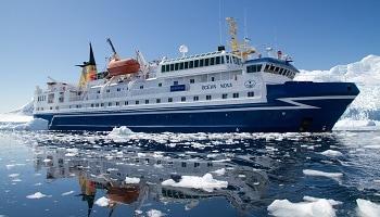 Ocean Nova Fly Cruise Expedition ship Antarctica.
