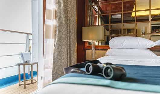 Sea Spirit deluxe suite balcony