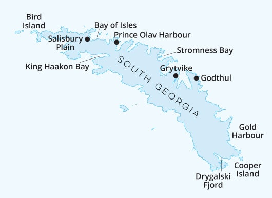 South Georgia Map