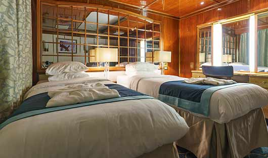 Sea Spirit superior suite beds