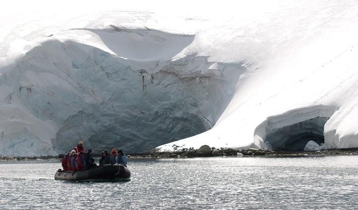 Zodiac Cruising South Georgia - Drygalski Fjord.