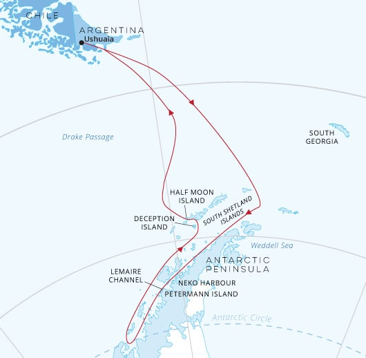 Crossing the Antarctic Circle | Antarctica Travel Centre