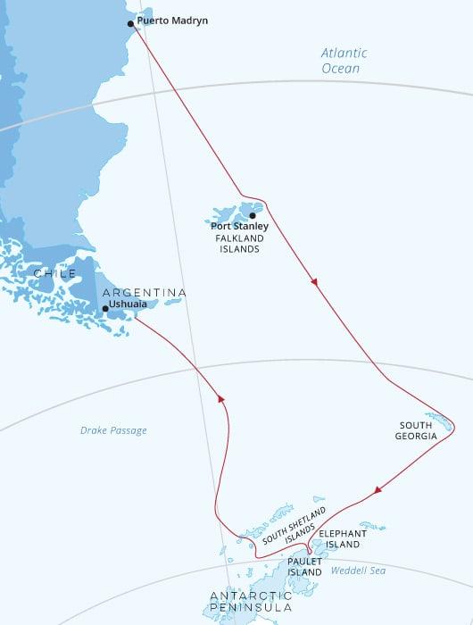 Falklands, South Georgia Antarctica