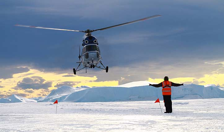 Helicopter to Snow Hill to see the Emperor Penguins