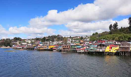 houses on stilts, Chiloe Island, Chile