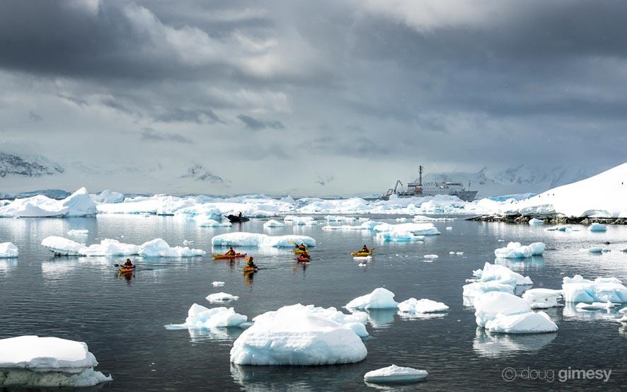 Doug Gimesy Kayaking Antarctica
