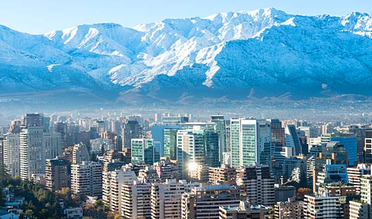 Santiago and the Andes, Chile