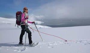 Snow Shoeing Greg Mortimer