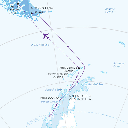 Across the Antarctic Circle (Fly North) 13 days | Antarctica Travel ...