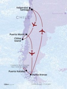 Chile In Depth map