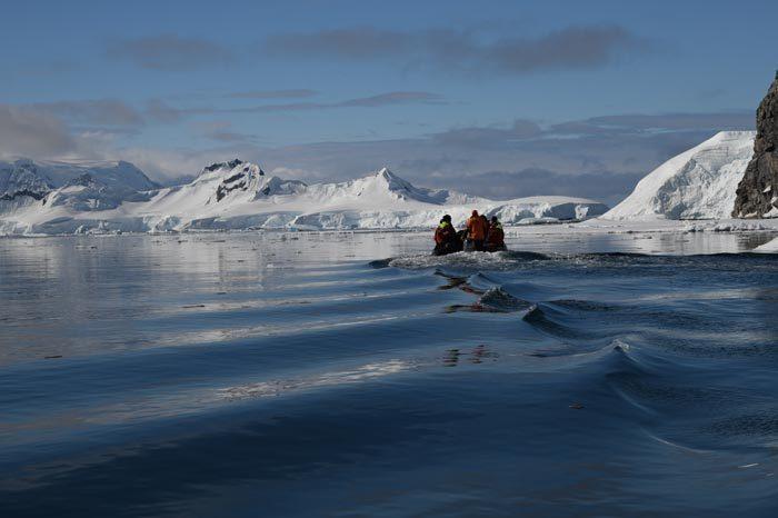 Zodiac Wilhemina Bay Antarctica Penisnula Alex Burridge