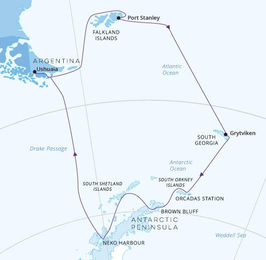 Hondius Falklands, South Georgia and Antarctica