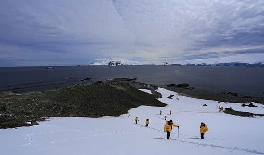 Hike in Antarctica
