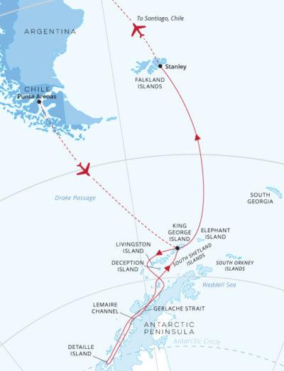 Journey Below the Antarctic Circle Fly Punta to Santiago