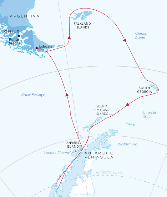Falklands-SouthGeorgia-Antarctic-Circle-map