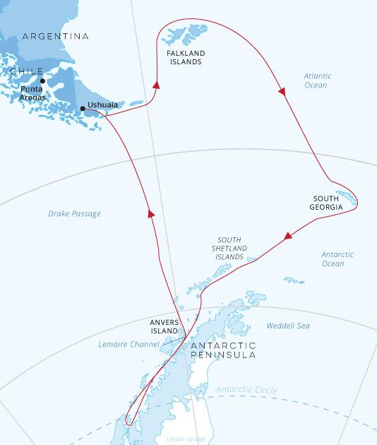 Falklands-SouthGeorgia-Antarctic-Circle-map | Antarctica ...