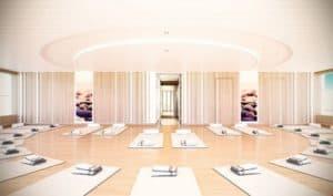 National Geographic Endurance yoga room rendered