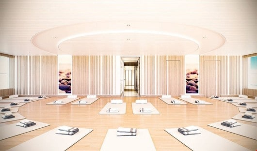National Geographic Endurance yoga room rendered