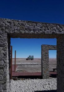 Bolivian bus through Archway by Anthony Pulleine