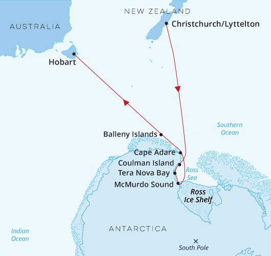 Antarctica - The Ross Sea - Christchurch to Hobart
