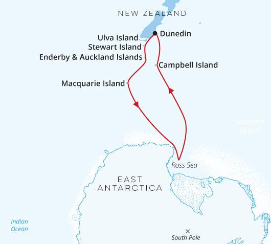 Dunedin to Ross Sea