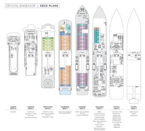 Crystal Endeavor Deck Plan