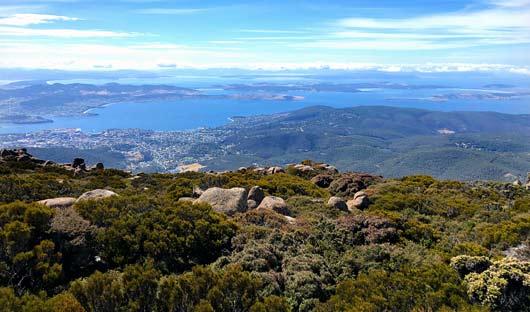Hobart from Mt Wellington