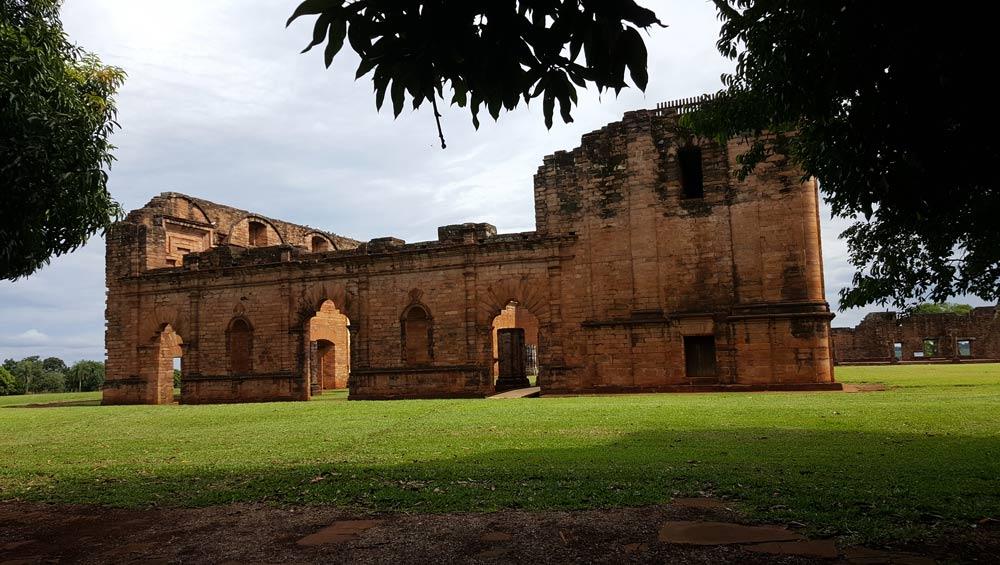 Jesuit Mission, Ruins of Jesus de Tavarangue, Paraguay by Jean Johnston