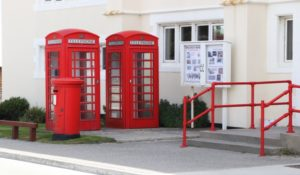 Phone boxes, stanley