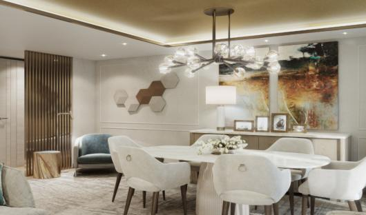 Crystal Endeavor owners suite dining room