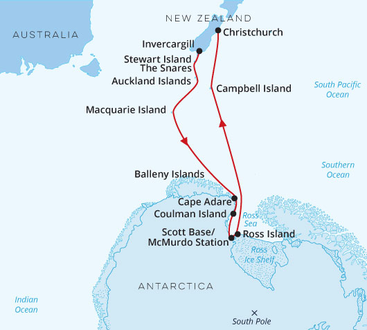In the Wake of Scott and Shackleton to Christchurch