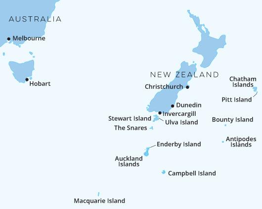 New Zealand, Sub Antarctic Islands