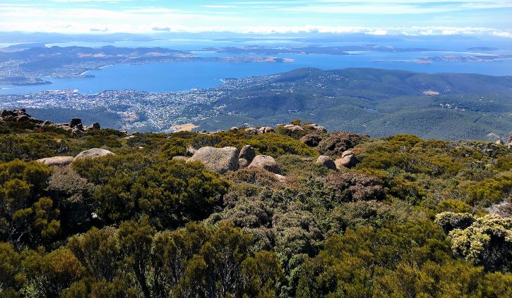 Hobart Fiona - from Mt Wellington