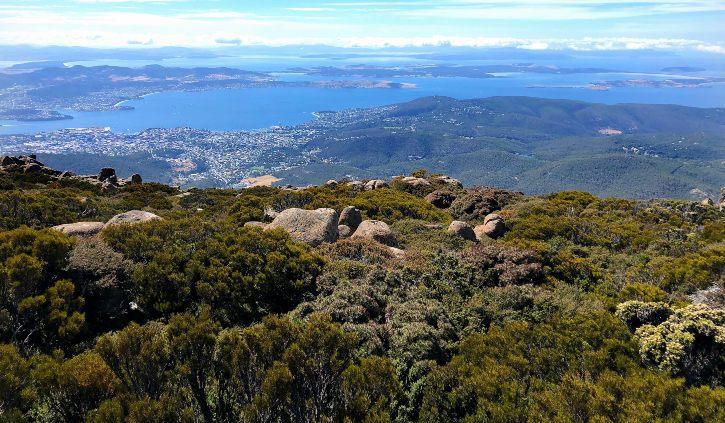 Hobart Fiona - from Mt Wellington