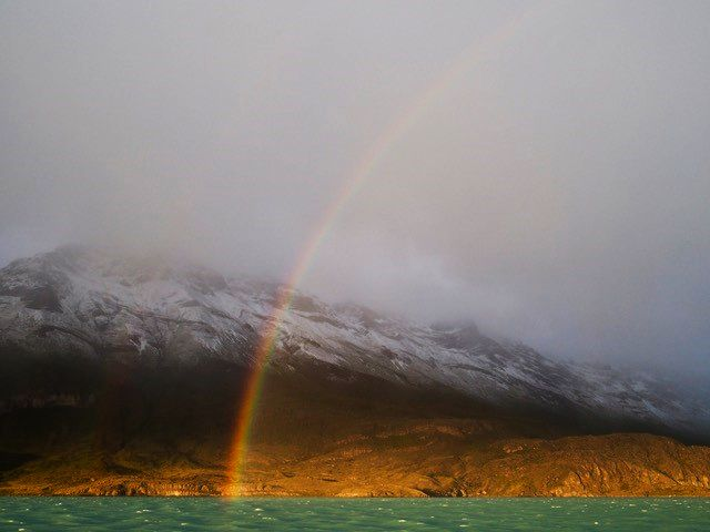 Rainbow over Patagonia by Vikki Oates