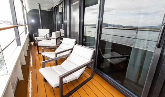 Owners suite balcony World Explorer