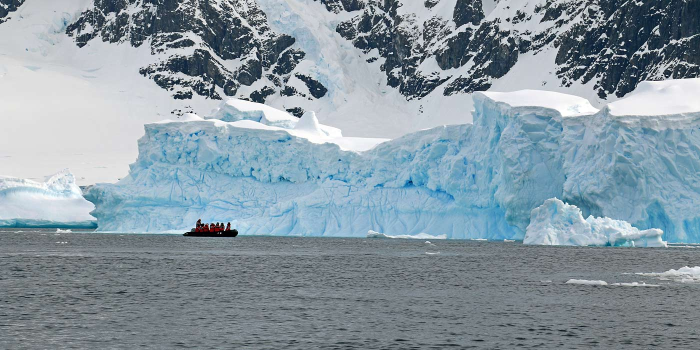 Cruising among icebergs
