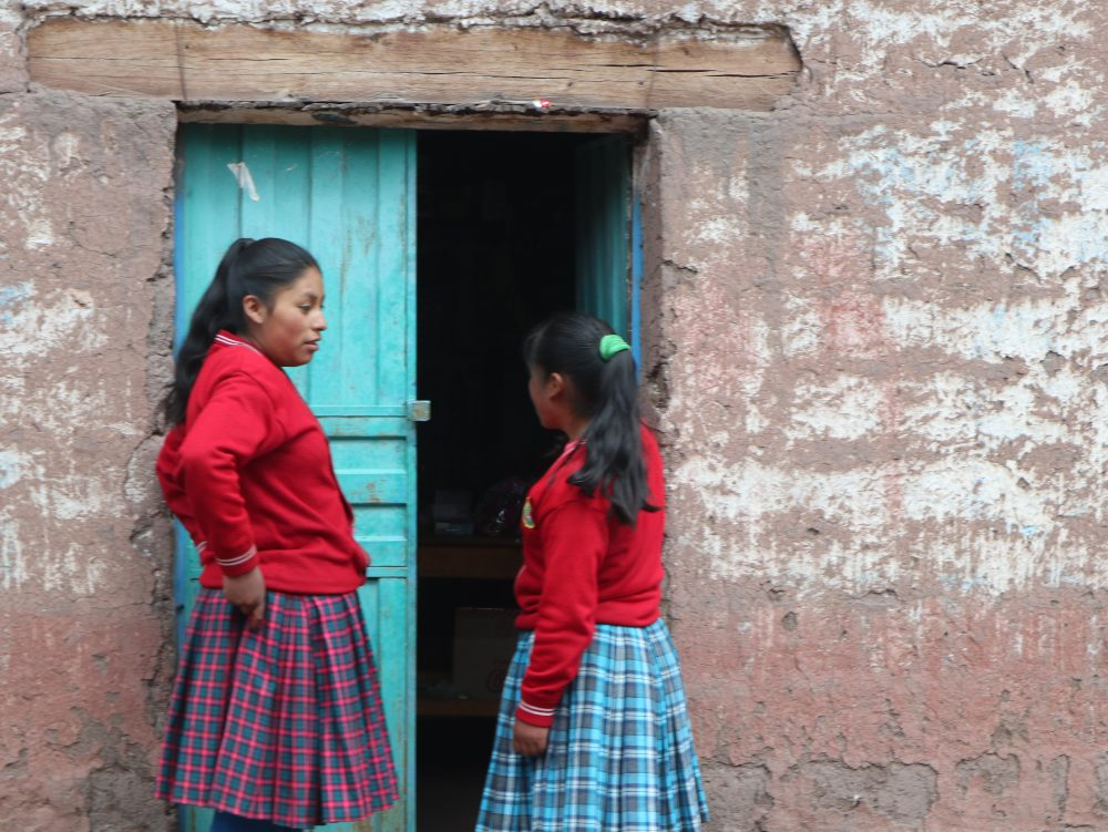 Local schoolgirls on the way to Palcoyo by Donna Clayton-Smith