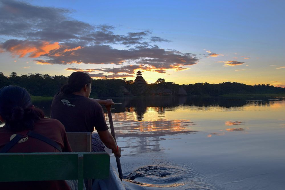 On the way to Napo Lodge, Ecuador by Pamela Cossey