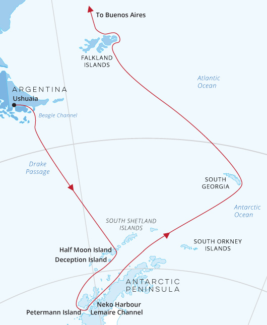 Sea Spirit Antarctica, Falklands, South Georgia to Buenos Aires