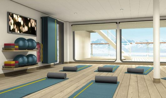 Ultramarine yoga room