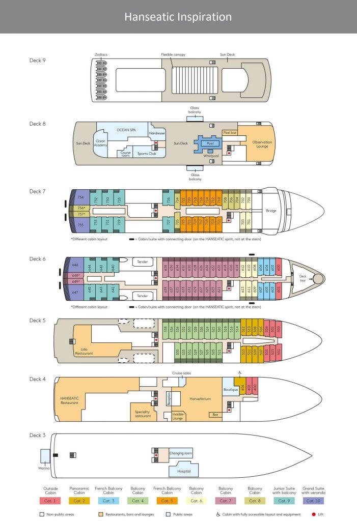 Deckplan hanseatic inspiration