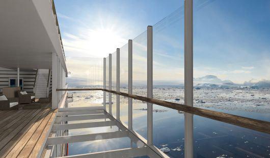 Hanseatic Inspiration, Glass Balcony