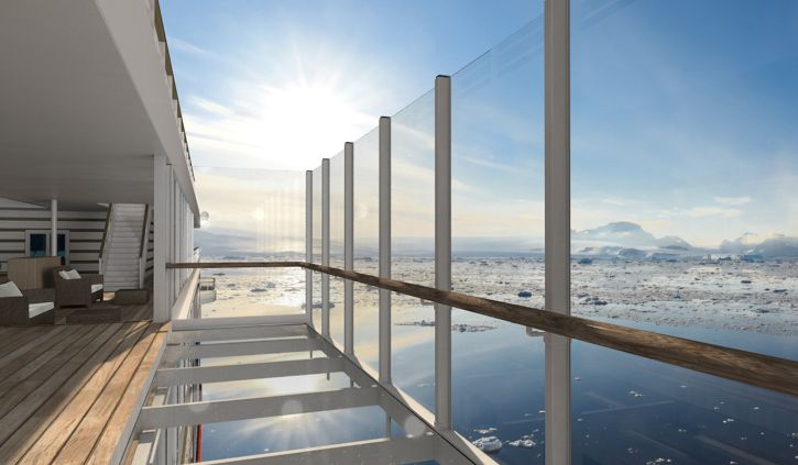 Glass balcony HANSEATIC-inspiration