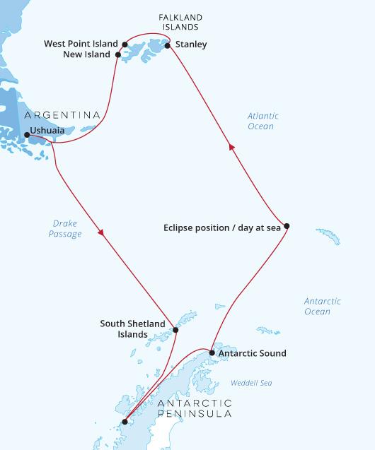 ATC Silver Explorer - Ushuaia to Ushuaia - Solar Eclipse