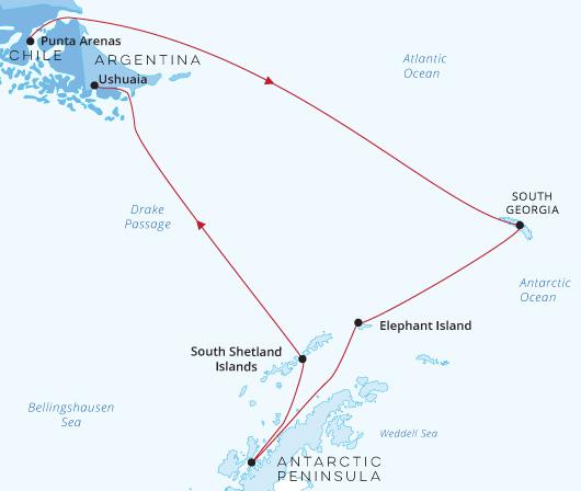 Silver Cloud South Georgia Antarctica Punta Arenas 2021-22