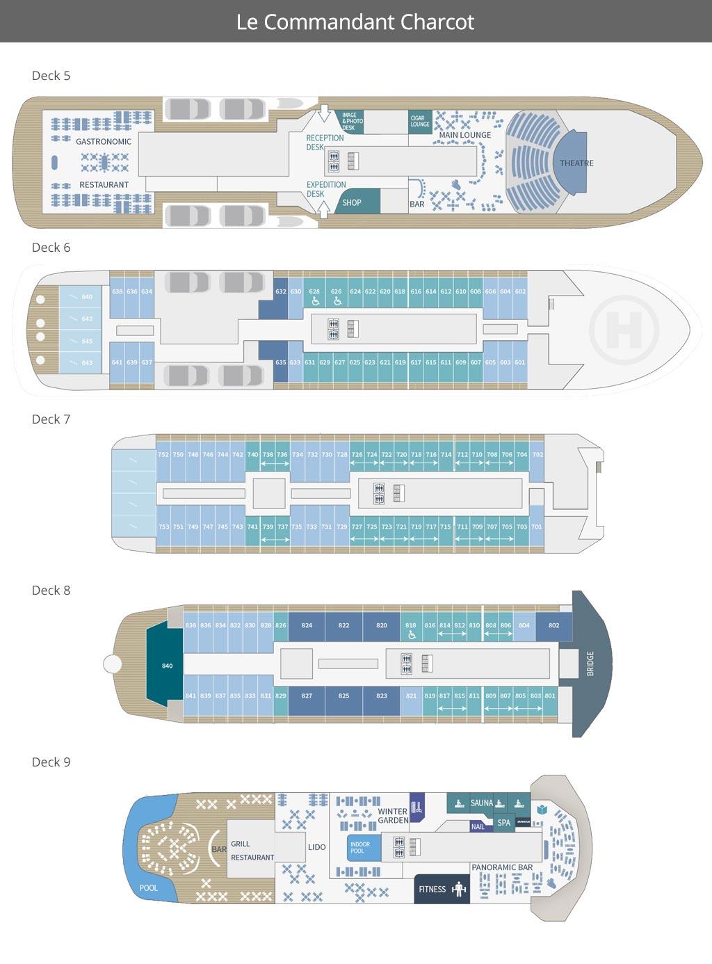 Le Commandant Charcot Deck Plan