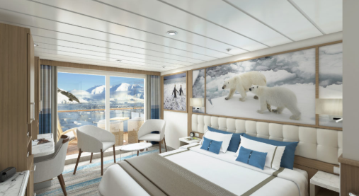 Sylvia Earle - Balcony Stateroom Category A - Render