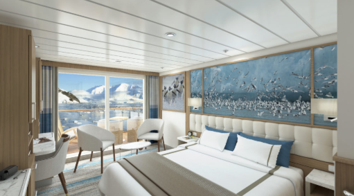 Sylvia Earle - Balcony Stateroom Category C - Render
